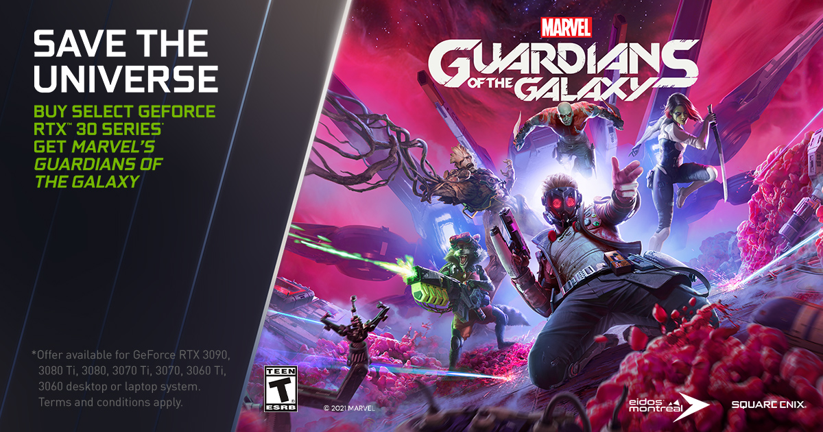 Marvel's Guardians of the Galaxy GeForce RTX Bundle