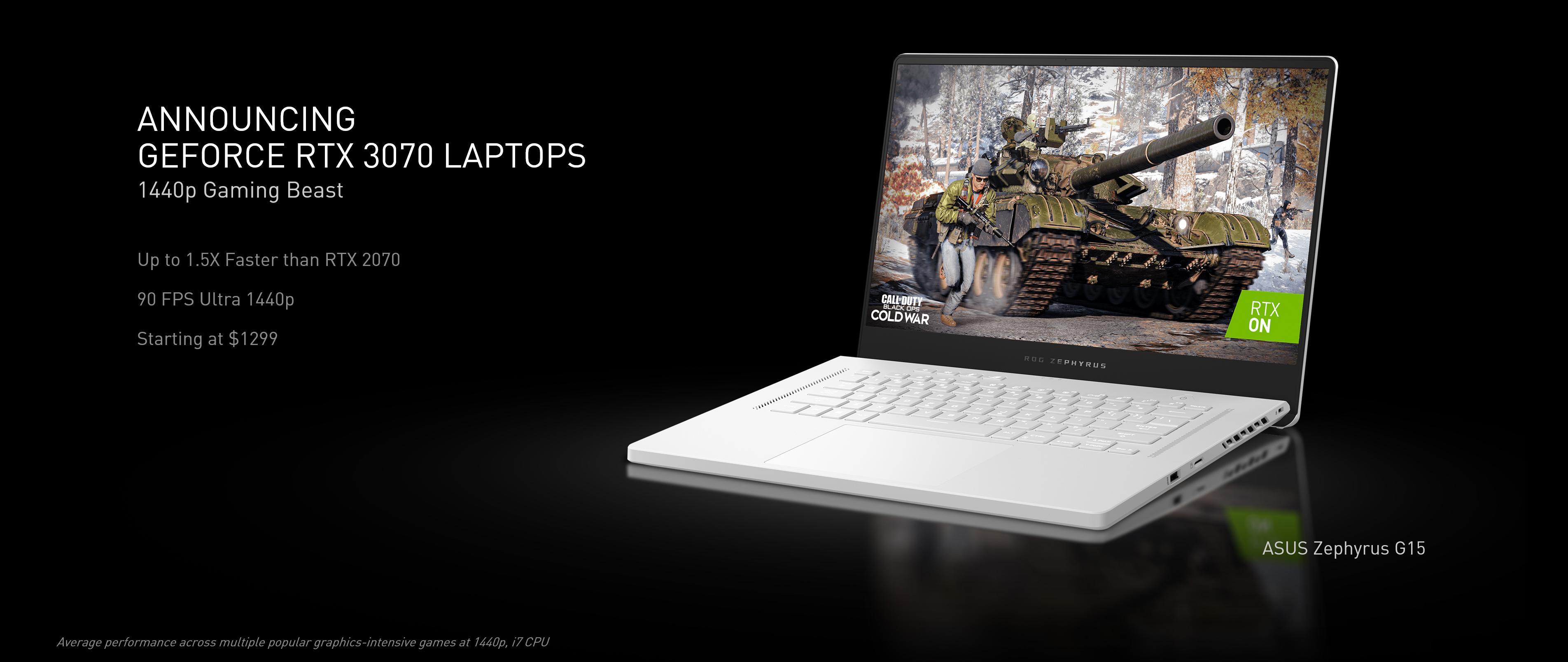 NVIDIA Ampere llega a más de 70 portátiles RTX