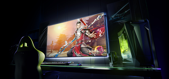 Introducing Big Format Gaming Displays, the best way to experience PC games on a big-screen display