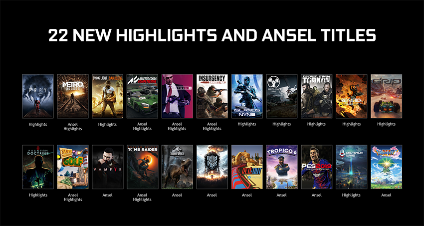Ansel And Highlights Are Coming To Big New Games