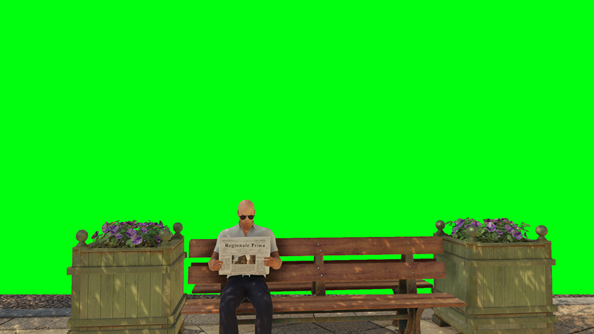 By applying and customizing the Green Screen filter we remove the background