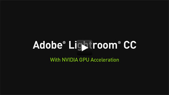 Adobe Lightroom CC with NVIDIA GPU Acceleration