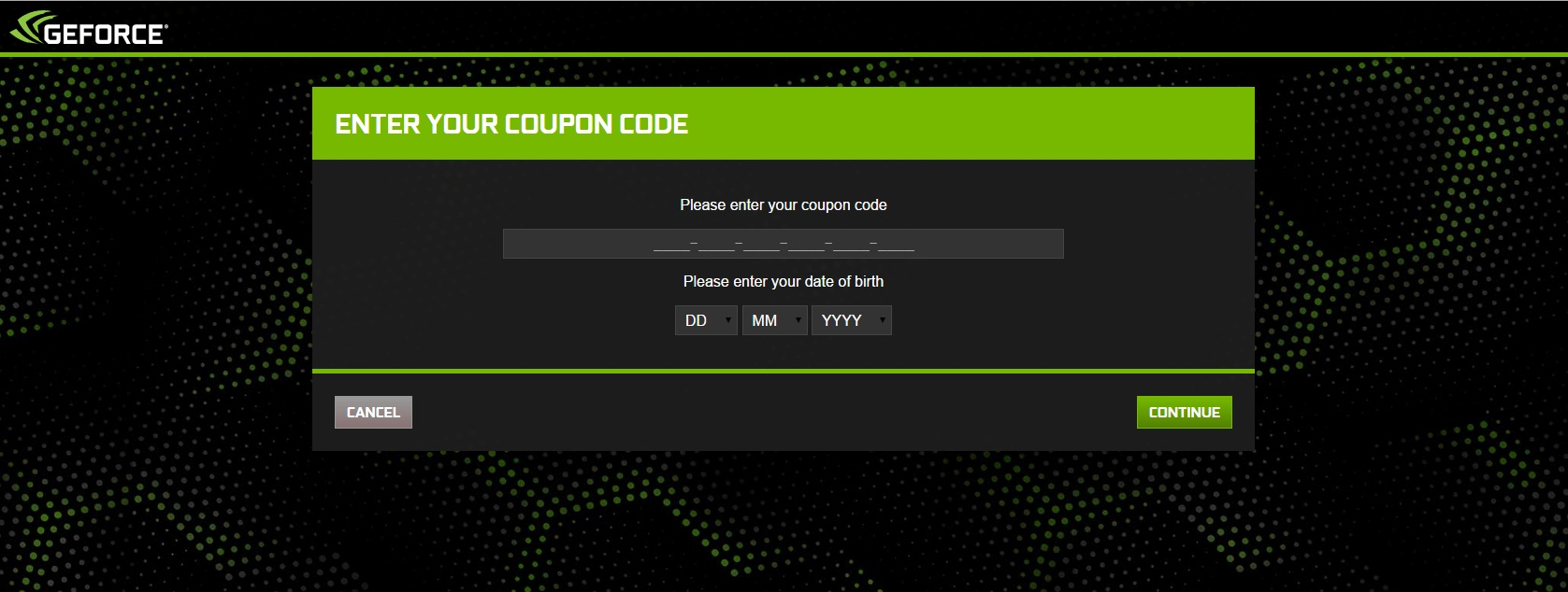 Redemption Instructions Geforce