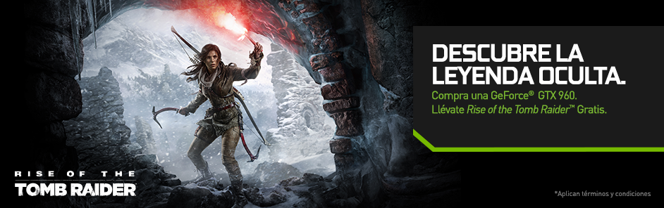 Compra una GeForce® GTX 960. Llévate Rise of the Tomb Raider GRATIS.