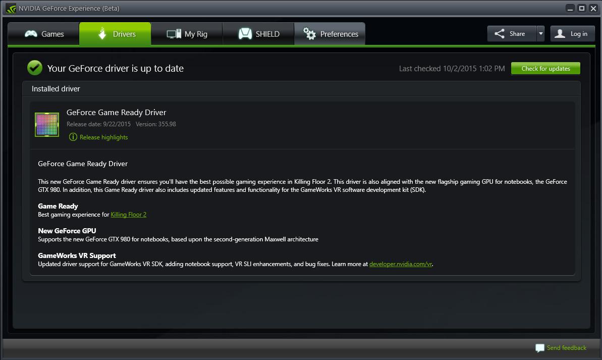 Update Drivers & Optimal Playable Settings | NVIDIA ...