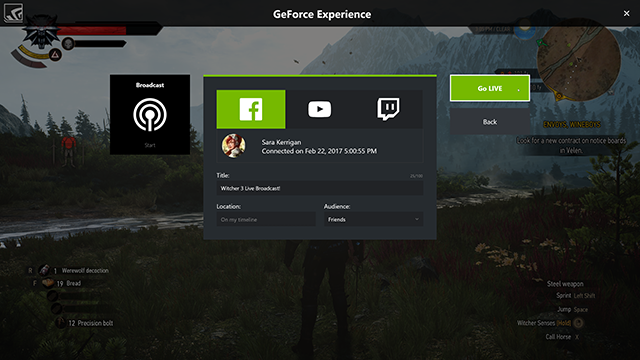 GeForce Experience: Broadcasting Tutorial #001