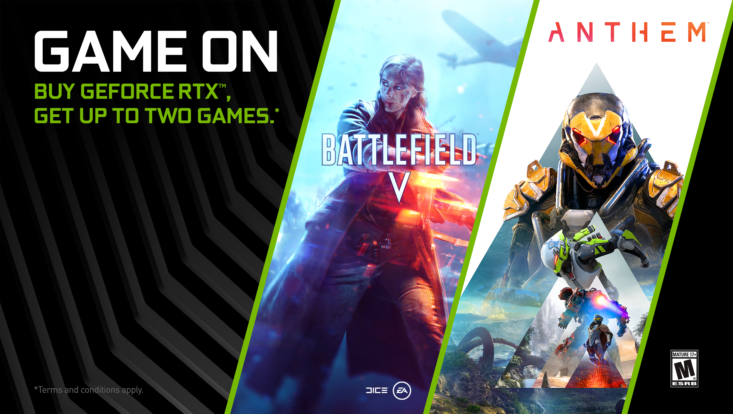 GeForce RTX Game On Bundle Brings You Anthem and Battlefield V