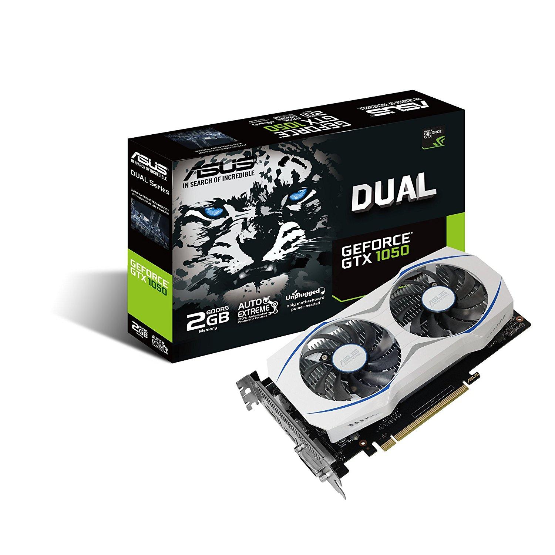 ASUS GeForce GTX 1050 O2GB Dual-Fan Edition Graphics Card | DUAL-GTX1050-O2G
