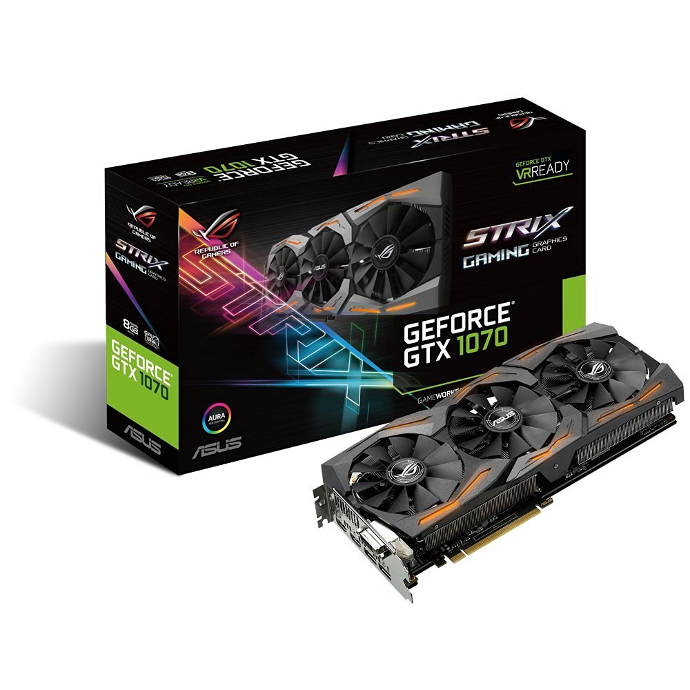 ASUS GeForce GTX 1070 8GB ROG STRIX VR Ready Graphics Card | STRIX-GTX1070-8G-GAMING