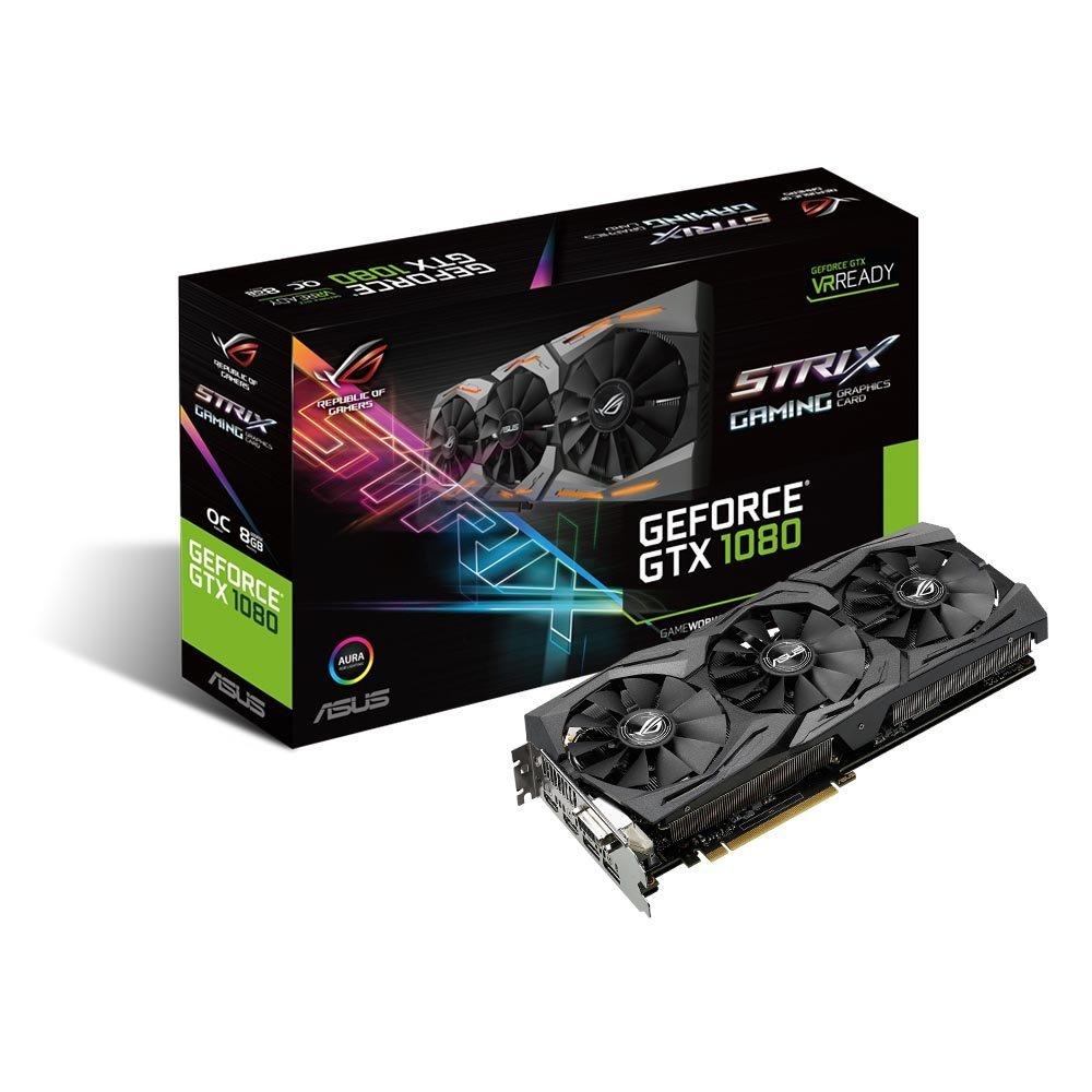 ASUS GeForce GTX 1080 8GB ROG STRIX OC Edition VR Ready Graphics Card |STRIX-GTX1080-O8G-GAMING