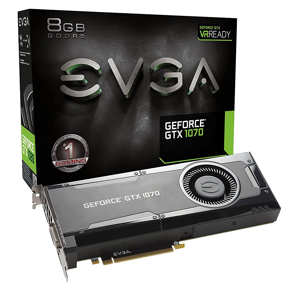 EVGA GeForce GTX 1070 GAMING 8GB VR Ready Graphics Card | 08G-P4-5170-KR