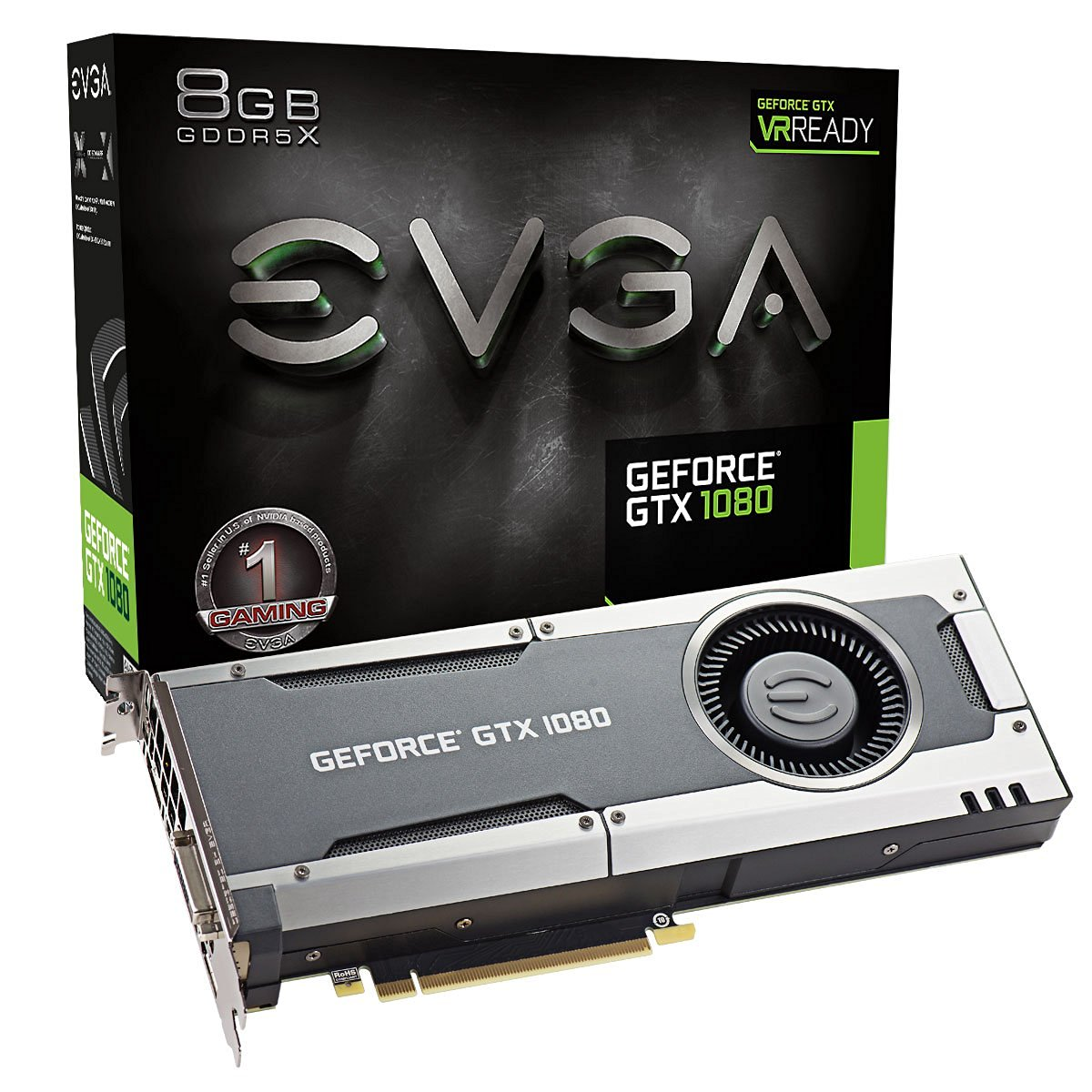 EVGA GeForce GTX 1080 GAMING 8GB VR Ready Graphics Card | 08G-P4-5180-KR
