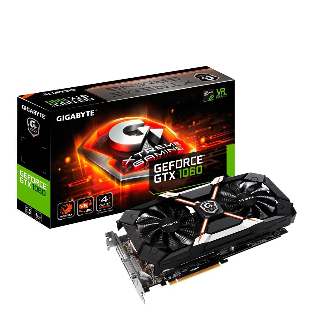 Gigabyte GeForce GTX 1060 6GB Xtreme Gaming VR Ready Graphics Card | GV-N1060XTREME-6GD