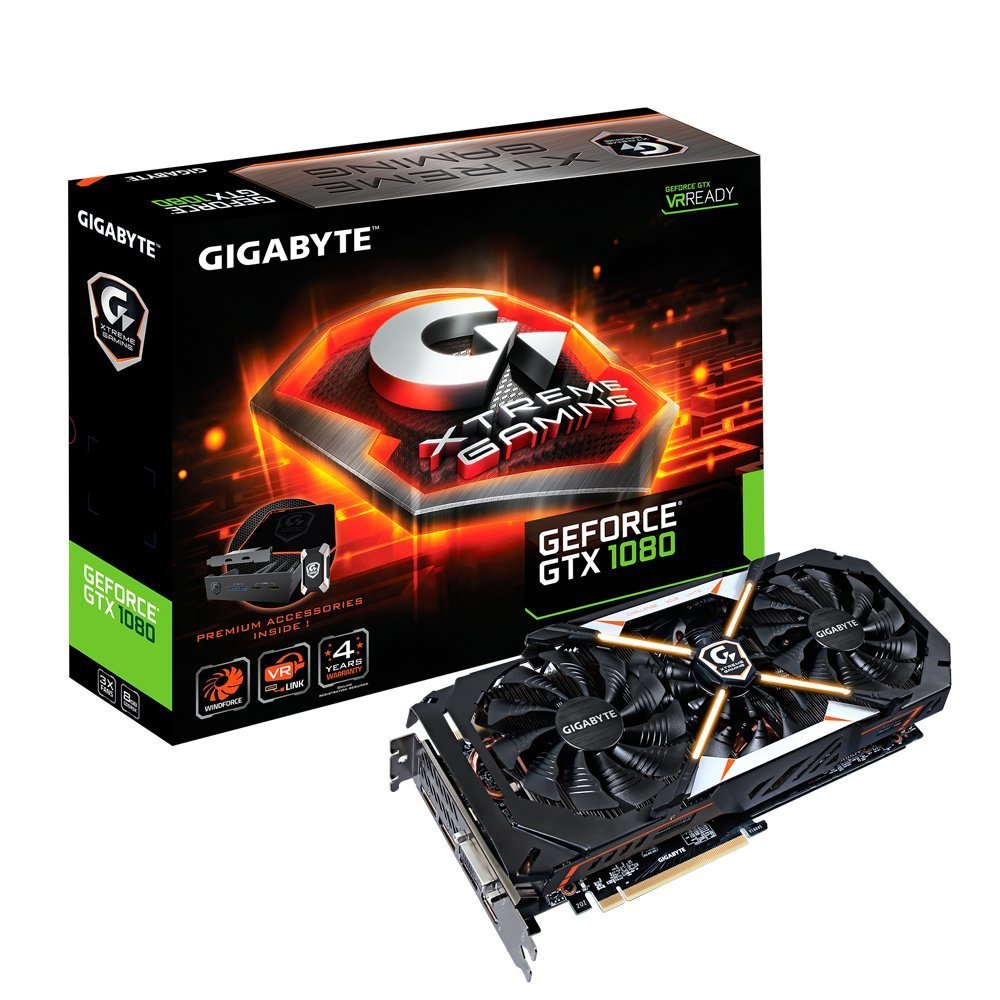 Gigabyte GeForce GTX 1080 8GB XTREME Gaming Premium Pack VR Ready Graphics Card | GV-N1080XTREME-8GD