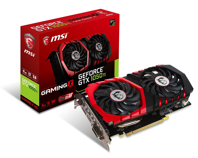 MSI GeForce GTX 1050 TI GAMING X 4G Graphics Card | GTX 1050 TI GAMING X 4G