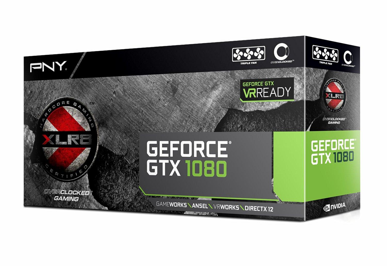 PNY GeForce GTX 1080 8GB XLR8 Gaming Overclocked VR Ready Graphics Card | VCGGTX10808XGPB-OC