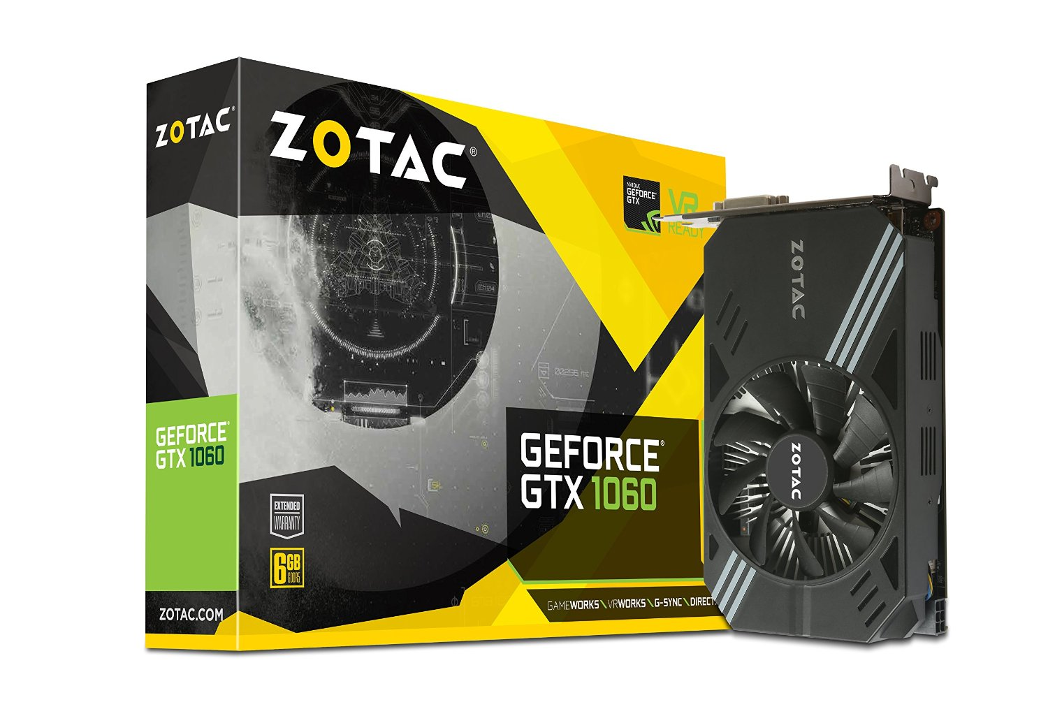 ZOTAC GeForce GTX 1060 VR Ready Graphics Card | ZT-P10600A-10L