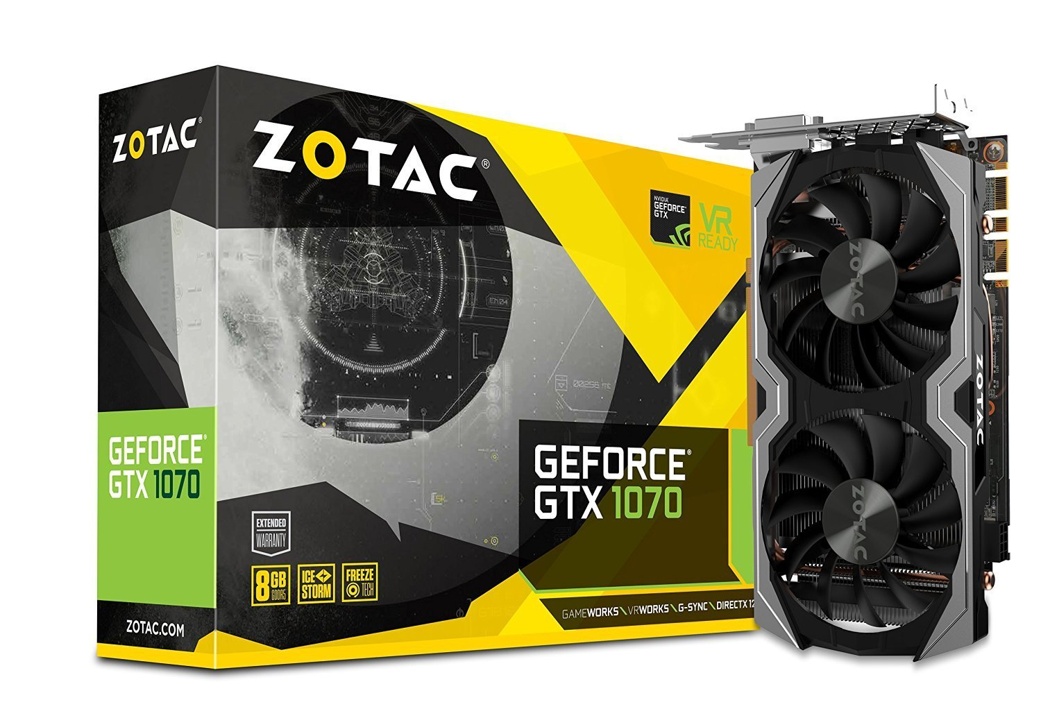 ZOTAC GeForce GTX 1070 Mini 8GB VR Ready Graphics Card |ZT-P10700G-10M