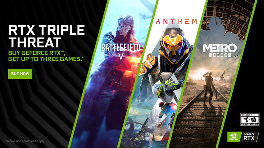 GeForce RTX Triple Threat Bundle Brings You Battlefield V, Anthem, and Metro Exodus!