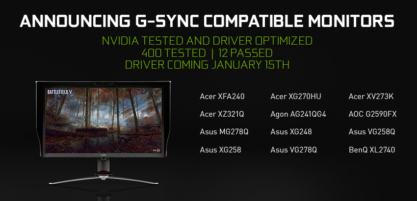 Introducing G-SYNC Compatible Displays