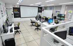경북대 정보전산원에 개원한 엔비디아 솔루션 데모 교육센터 전경