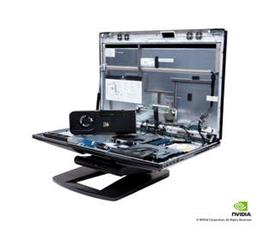 엔비디아 쿼드로 외장 GPU와 HP Z1 내부 부품 트레이