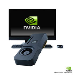 HP Z1에 탑재된 엔비디아 쿼드로 올인원 GPU (HP Z1 및 카드 외부 이미지)
