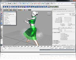 Maya with PhysX plug-in