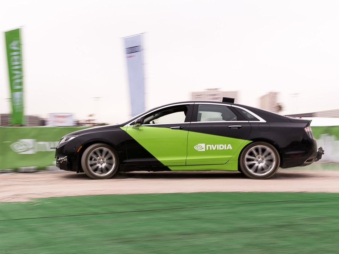 Nvidia demonstrated its A.I. for self-driving cars at the Consumer Electronics Show in January 2017.