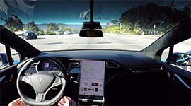 tesla motors self driving car