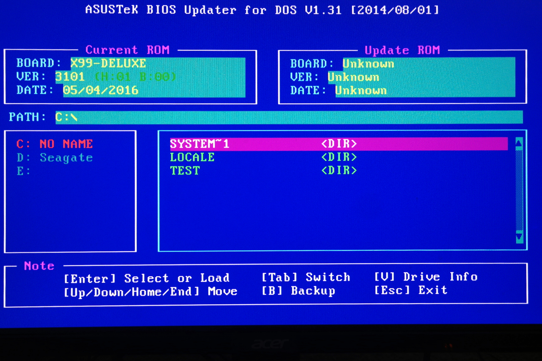 What is the best method for updating the bios a