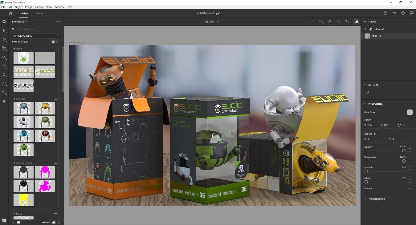 برنامج Adobe Dimension CC 2020 رابط مباشر- الاصدار الأحدث