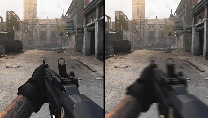 Call of Duty: Modern Warfare - Weapon Motion Blur #001 - On vs. Off