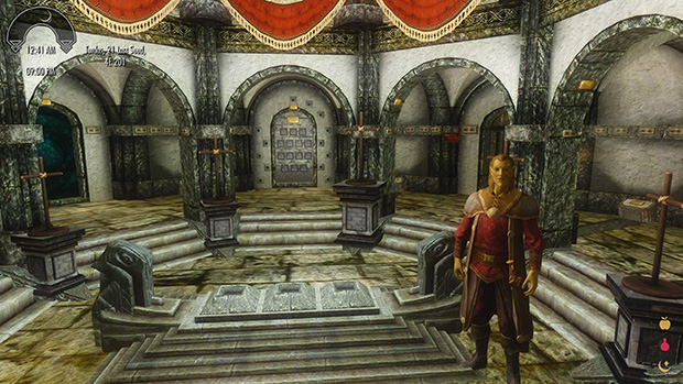 Welcome to the Hall of Heroes – the area in which many of the game's most impressive quest items will be displayed, eventually.