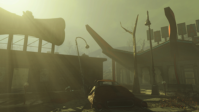 Fallout 4 - God Rays Quality Interactive Comparison #002