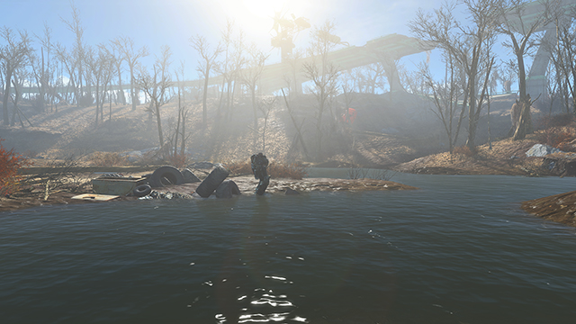 Fallout 4 - Screen Space Reflections Interactive Comparison #002