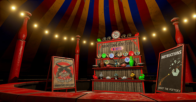 Big Top: Cover your carnival with a colorful  circus tent.
