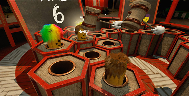 Super Whack-A-Mole:  Whack moles in 360  degrees!