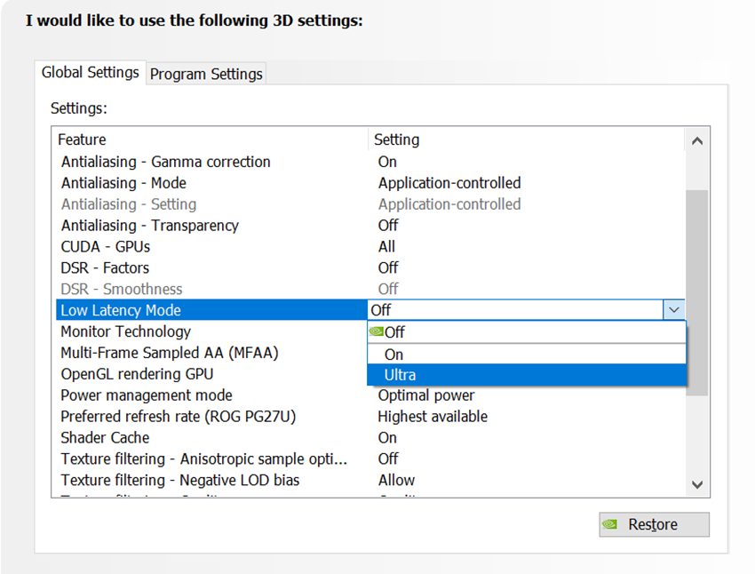 How To Enable Ultra-Low Latency Modes In The NVIDIA Control Panel
