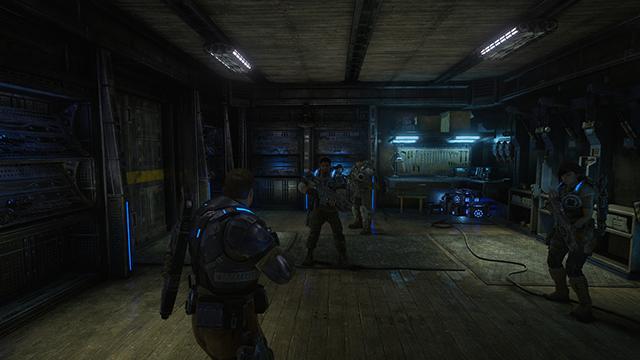 《戰爭機器 4》- 膠囊體陰影品質互動式比較圖 #001 - 極高 vs. 關閉