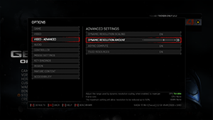 Gears of War 4 - Dynamic Resolution Scaling Setup #2