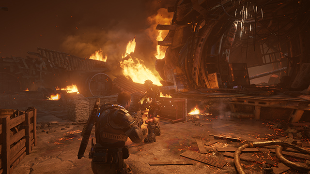 Gears of War 4 - Effects Texture Detail Interactive Comparison #005 - Ultra vs. Low