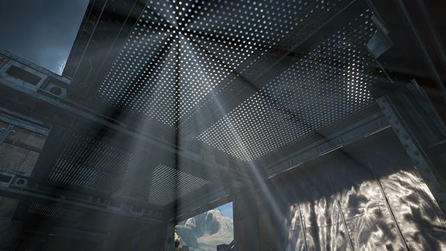 《戰爭機器 4》- 光軸品質互動式比較圖 #001 - 極高 vs. 關閉