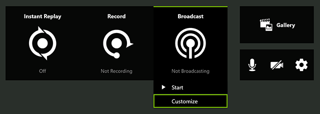 If you want to reduce your broadcast resolutions due to limited bandwidth, select Customize
