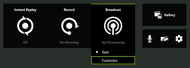 전송 속도 한계로 인해 방송 해상도를 줄이고 싶은 경우, 사용자 구성(Customize)을 선택하십시오