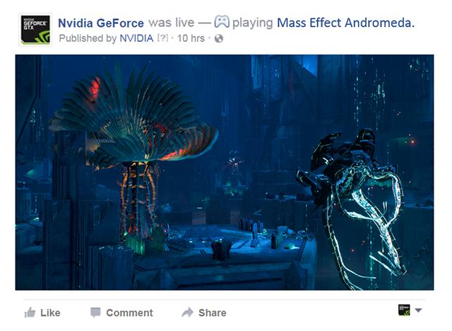 使用 GeForce Experience 中新增的選項,即可直接在 Facebook 上傳或直播你最愛的遊戲時刻