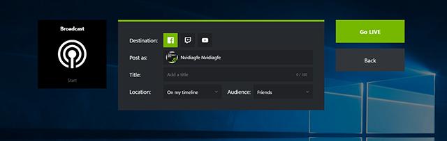 GeForce Experience 3.6: New, improved Broadcast setup