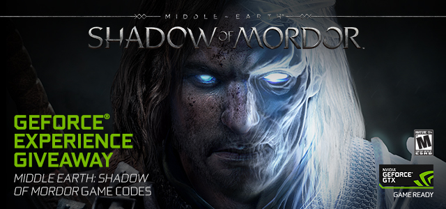Shadow of Mordor GeForce Experience Giveaway – 50,000 Copies Up For Grabs
