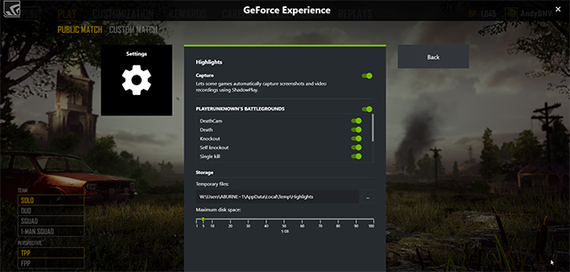 Edit NVIDIA Highlights' options in-game with GeForce Experience 3.13.1
