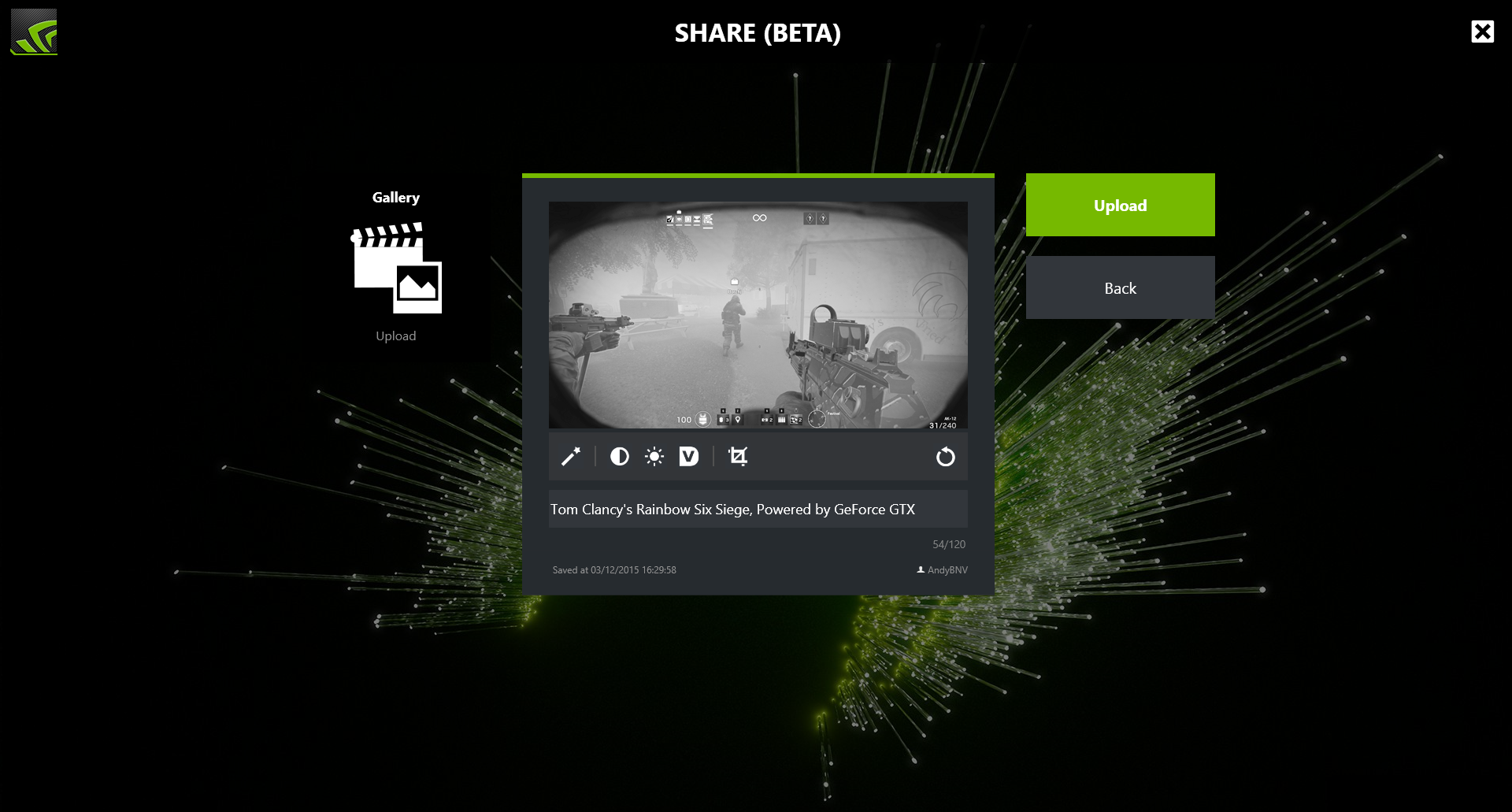 how to open geforce experience in game